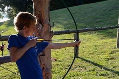 Teen Practicing Archery