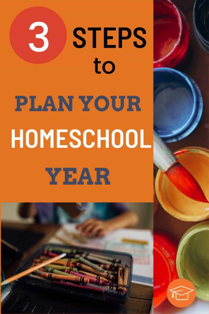 3 steps to plan your homeschool year pinterest pin
