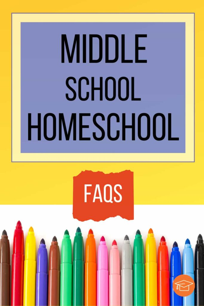 middleschool homeschool FAQs pinterest pin